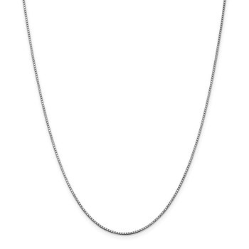 Leslie's 14K White Gold 1.2 mm Box w/Lobster Chain