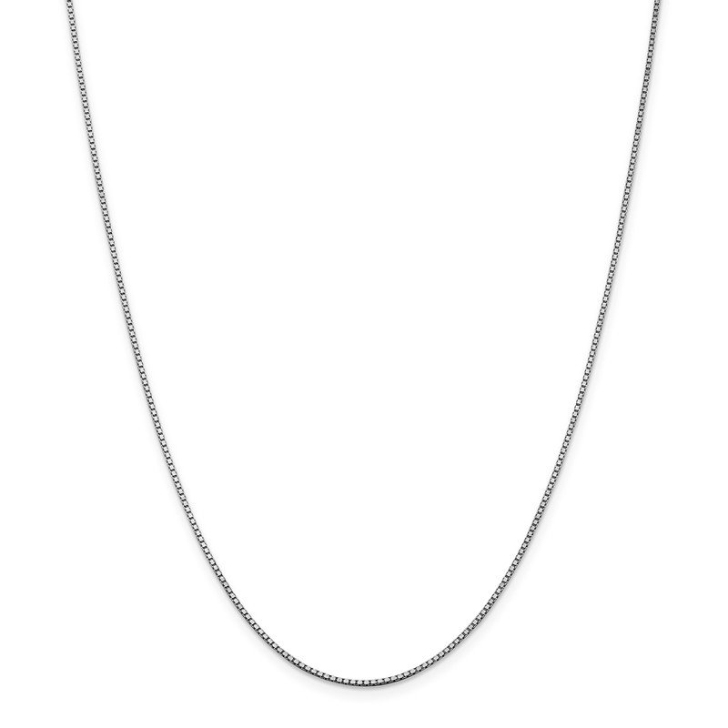 Leslie's Leslie's 14K White Gold 1.2 mm Box w/Lobster Chain