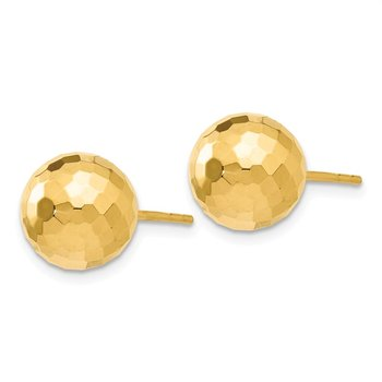 Leslie's 14K 9.4MM D/C Ball Earrings