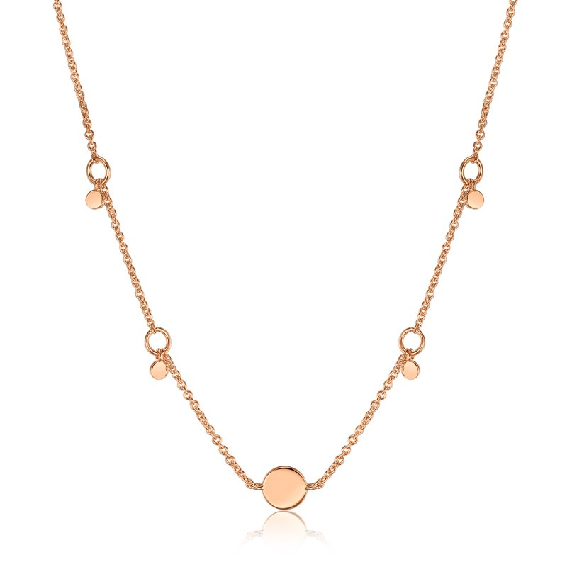 Ania Haie Geometry Drop Discs Necklace