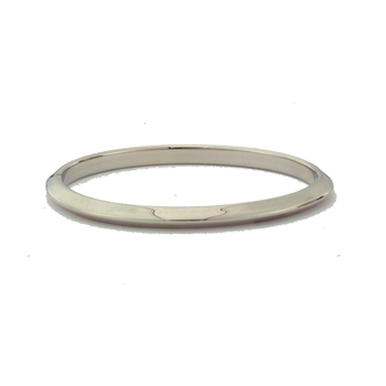 #26009 Of 18Kt White Knife Edge Bangle
