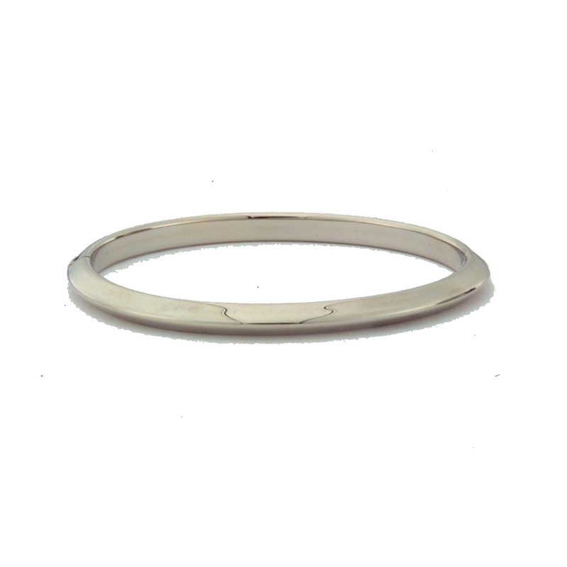 Roberto Coin  #26009 Of 18Kt White Knife Edge Bangle