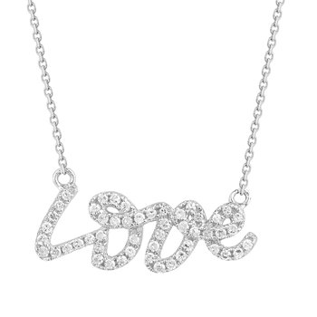 14K Love Necklace set with 50 Diamonds  0.20CT
