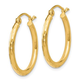 Leslie's 14K D/C Hinged Hoop Earrings