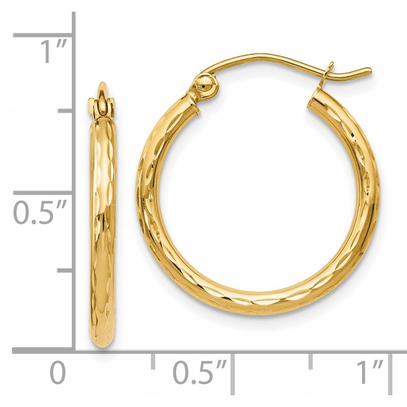 Leslie's Leslie's 14K D/C Hinged Hoop Earrings