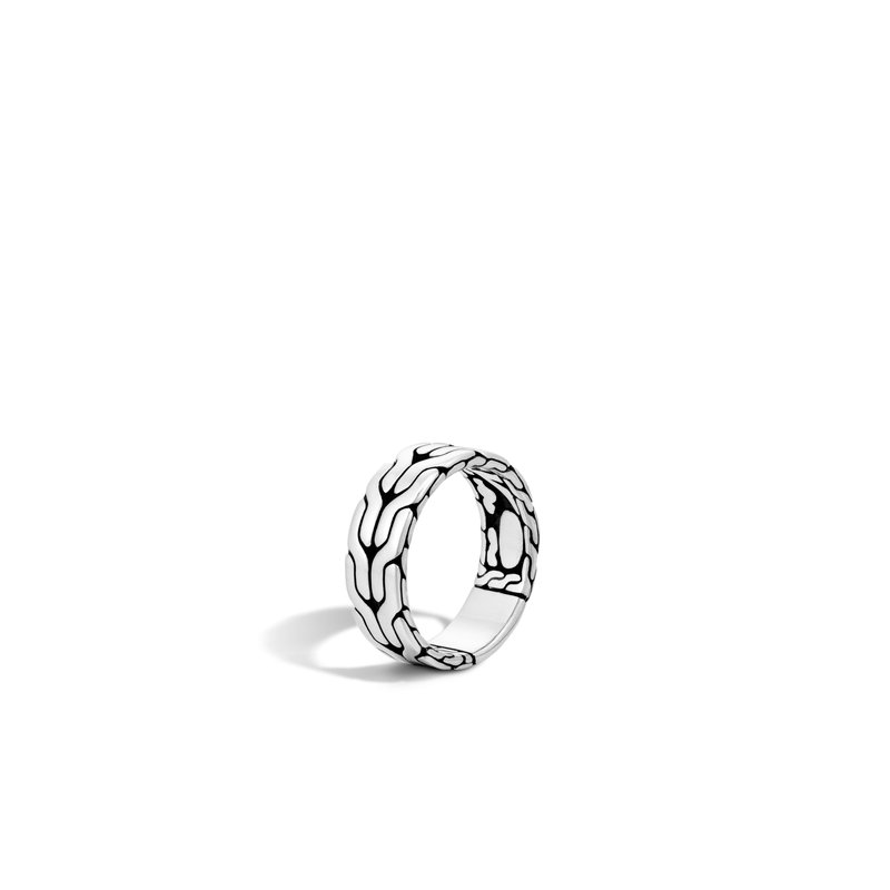 JOHN HARDY Classic Chain 8MM Band Ring in Silver