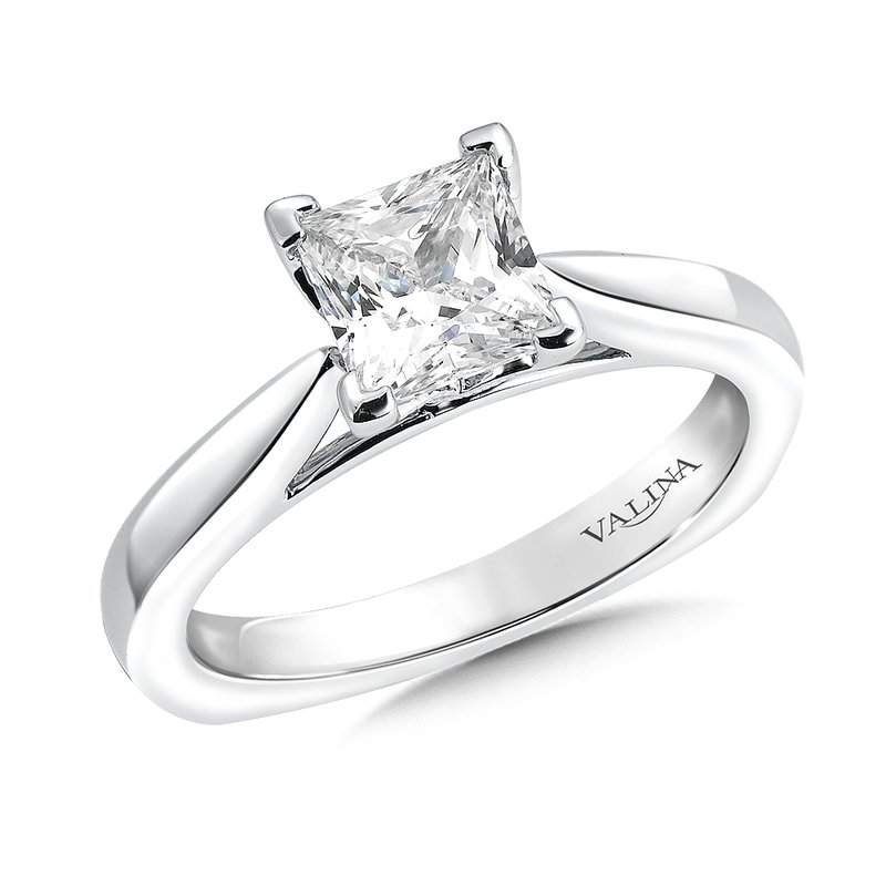 Valina Solitaire mounting .02 tw., 1 1/4 ct. Princess center.