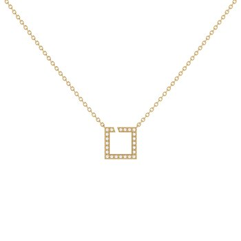 Street Light Necklace in 14 KT Yellow Gold Vermeil on Sterling Silver