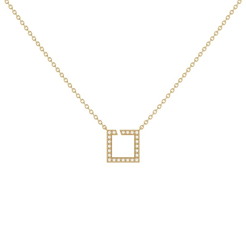 Luv My Jewelry Street Light Necklace in 14 KT Yellow Gold Vermeil on Sterling Silver