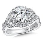 Valina Diamond Engagement Ring Mounting in 14K White Gold (.78 ct. tw.)