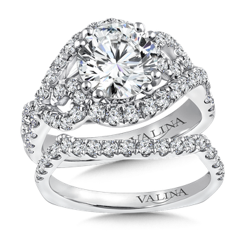 Diamond Engagement Ring Mounting in 14K White Gold (.78 ct. tw.)