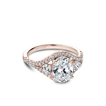Oval Center Three-Stone Engagement Ring