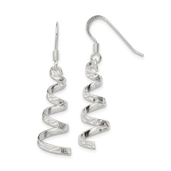 Sterling Silver Twist Dangle Earrings