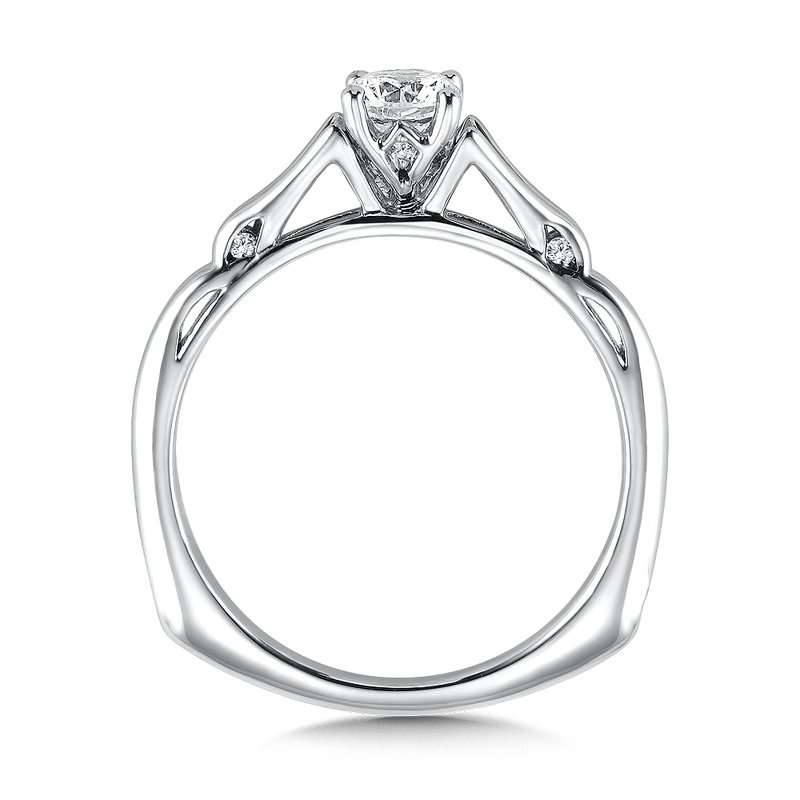 Valina Solitaire mounting .05 tw., 1/3 ct. round center.