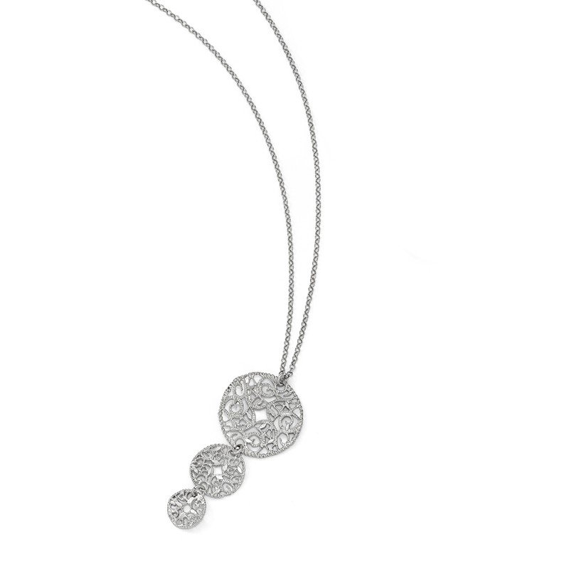 Leslie's Leslie's Sterling Silver Textured w/1.5in ext. Necklace