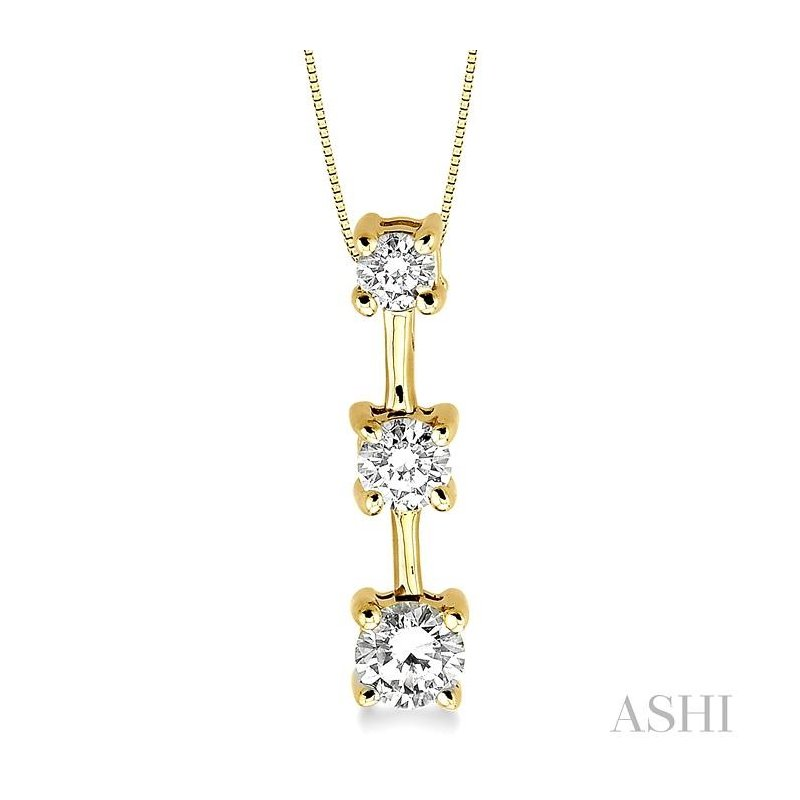 Gemstone Collection past present & future diamond pendant