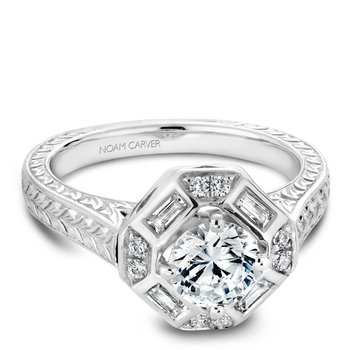 Noam Carver Vintage Engagement Ring B080-01A
