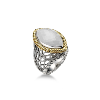 Paradise Mini Signature Two Tone Ring