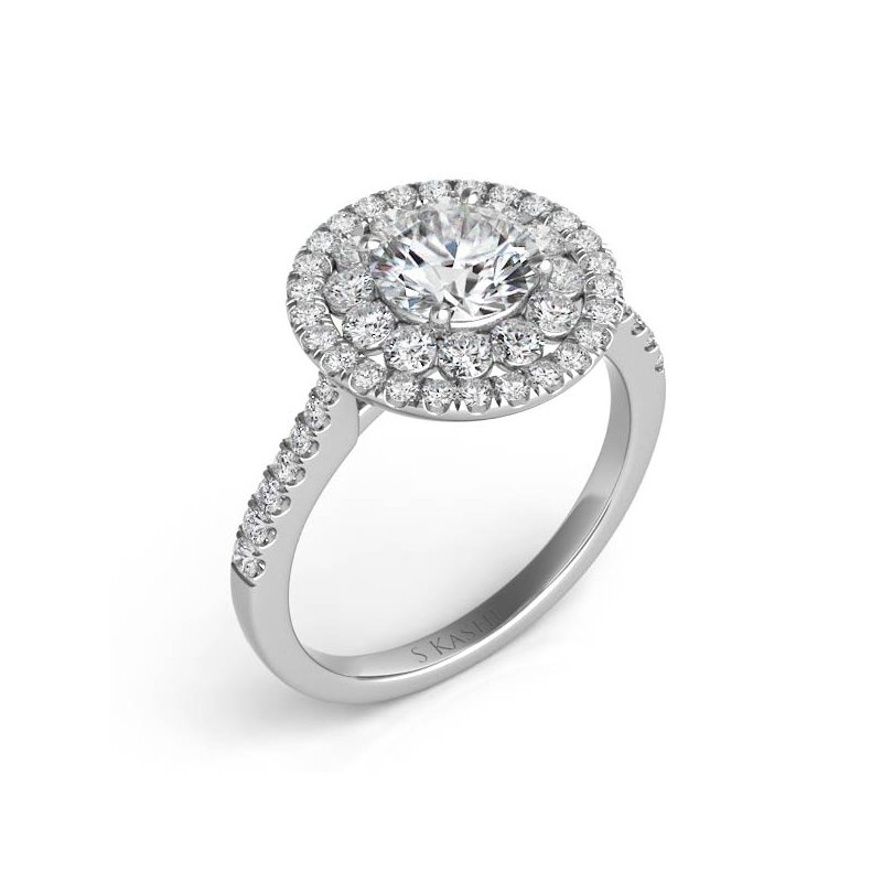 S. Kashi & Sons Bridal Palladium Halo Engagement Ring