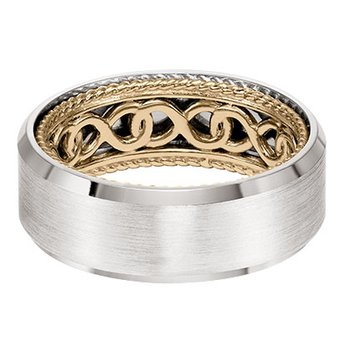Beveled Edge Wedding Band