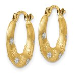 Lester Martin Online Collection 14K & Rhodium Hoop Earrings