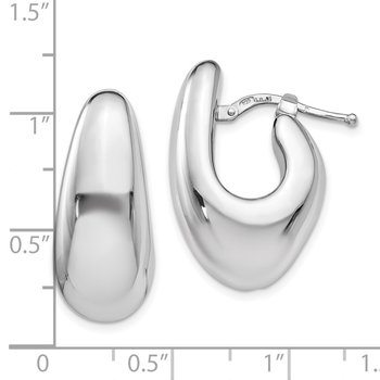 Leslie's Sterling Silver Polished Post Dangle Earrings