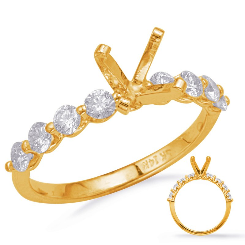 S. Kashi & Sons Bridal Yelllow Gold Engagement Ring
