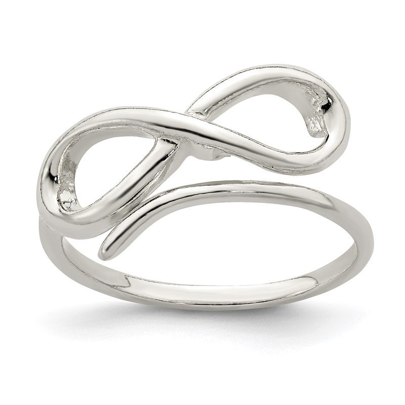 Quality Gold Sterling Silver Infinity Loop Ring
