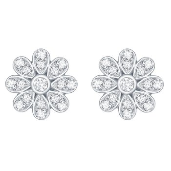 Smiling Rocks 0.39Ct G-H/VS1 Lab Grown Diamond Floral Stud Earring