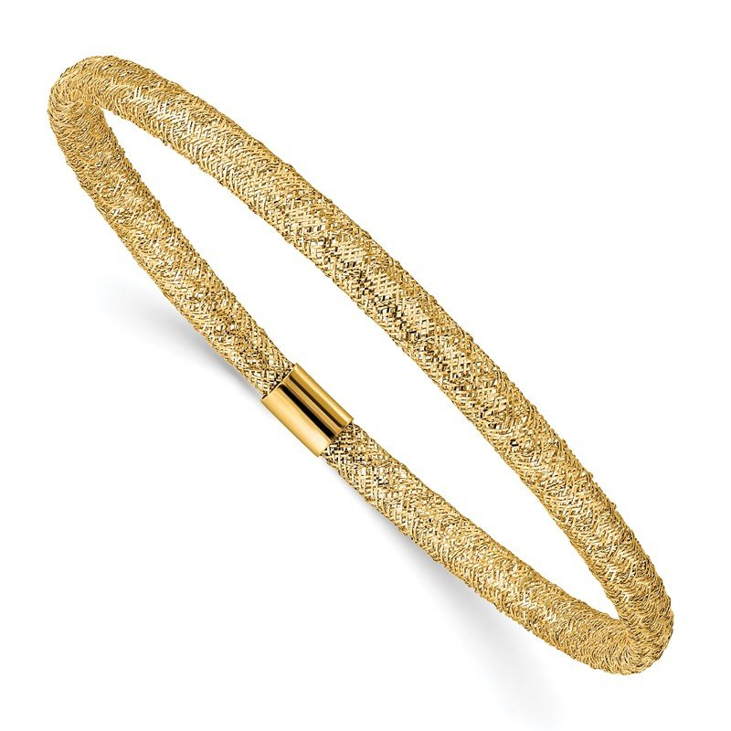 Quality Gold 14K Stretch Mesh Bracelet