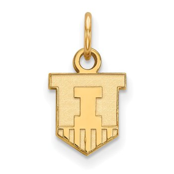 Gold-Plated Sterling Silver University of Illinois NCAA Pendant