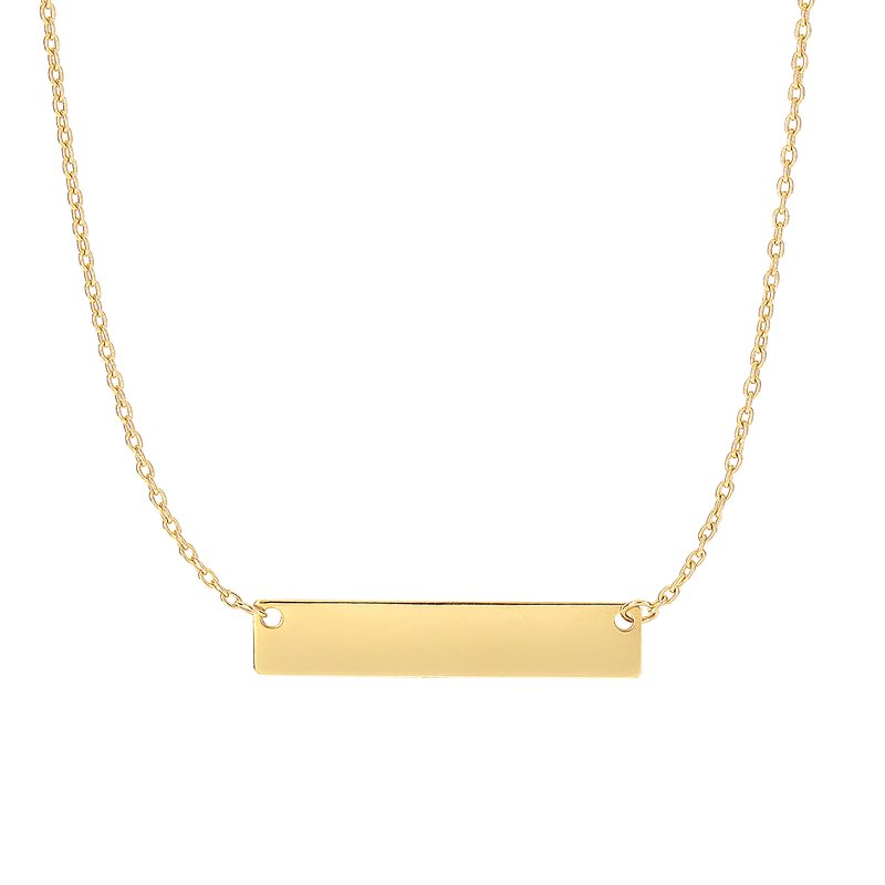 Royal Chain 14K Gold Small Bar Necklace