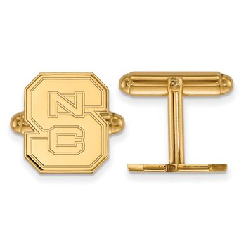 Gold-Plated Sterling Silver North Carolina State University NCAA Cuff Links