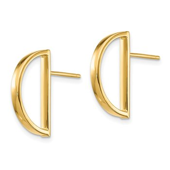 14K Half Circle Post Earrings