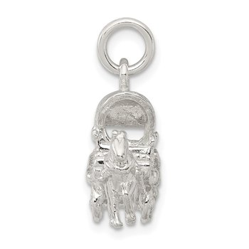 Sterling Silver Horse & Carriage Charm