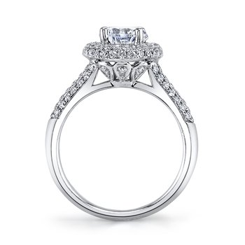 MARS 25132 Diamond Engagament Ring  0.79 Ctw.
