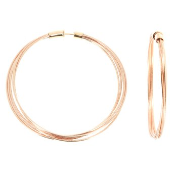 Rose Gold DNA Spring Large Hoop Earrings
