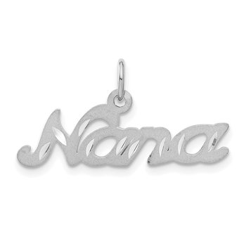 14k White Gold Satin NANA Charm
