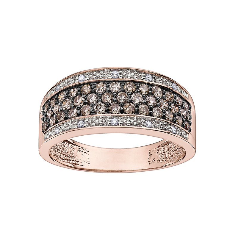 D of D Signature Natural Fancy Brown Diamond Anniversary Ring