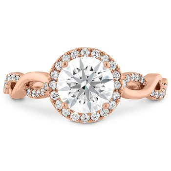 0.28 ctw. Destiny Lace HOF Halo Engagement Ring