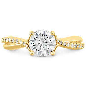 0.1 ctw. Simply Bridal Diamond Twist Semi Mount