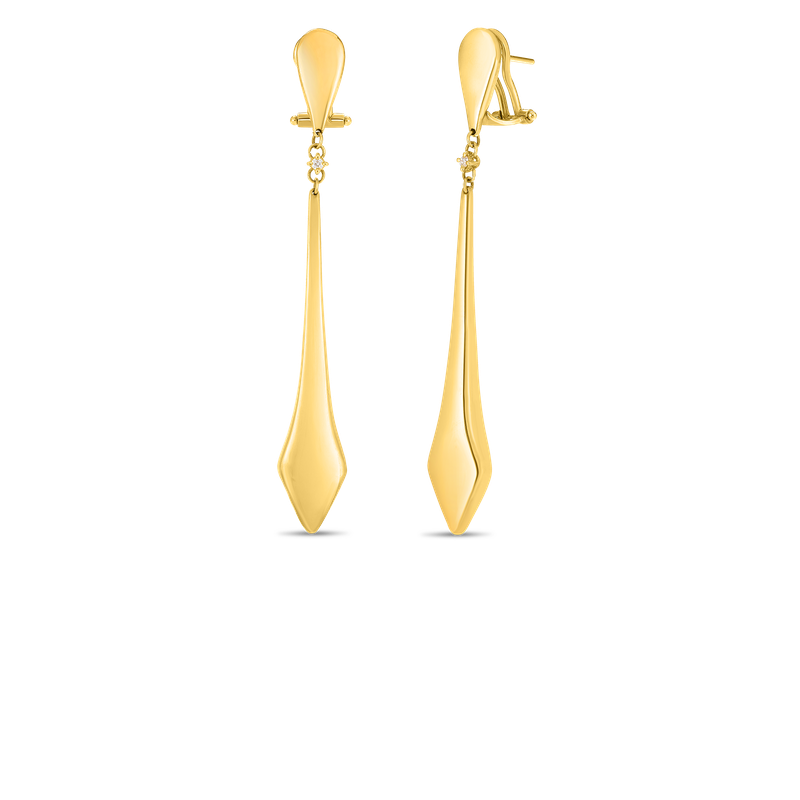 Roberto Coin  #26704 Of 18Kt Gold Stick Earrings