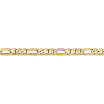 14k 4mm Flat Figaro Chain