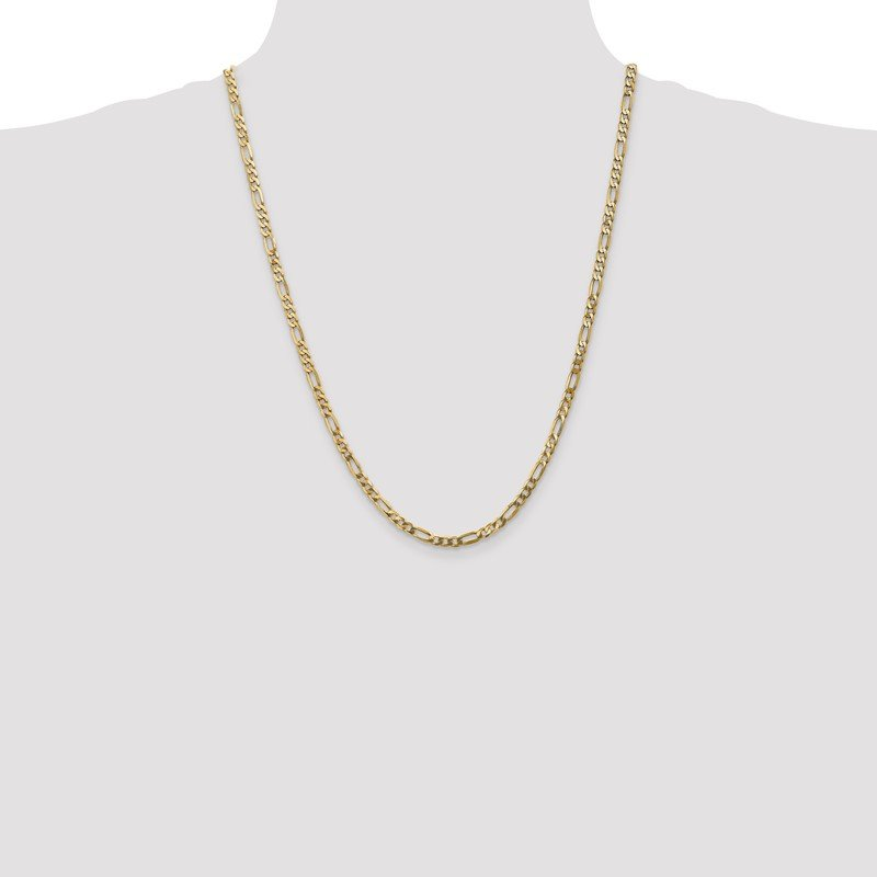 Quality Gold 14k 4mm Flat Figaro Chain