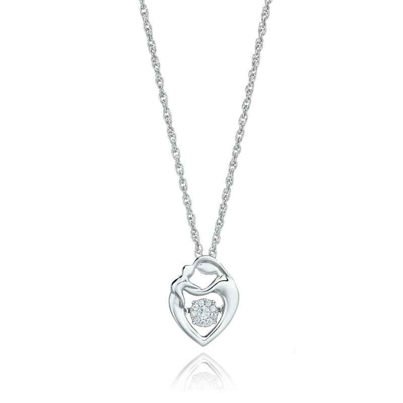 Heartbeat Collection SILVER 1/12CTW HEARTBEAT COLLECTION PENDANT