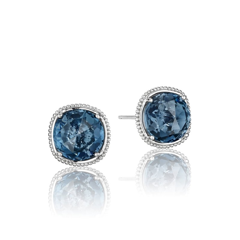 Tacori Fashion Bold Simply Gem Stud featuring London Blue Topaz