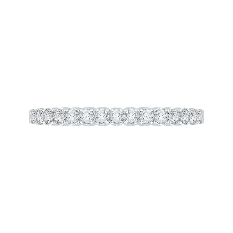 Promezza 14K White Gold Round Diamond Wedding Band