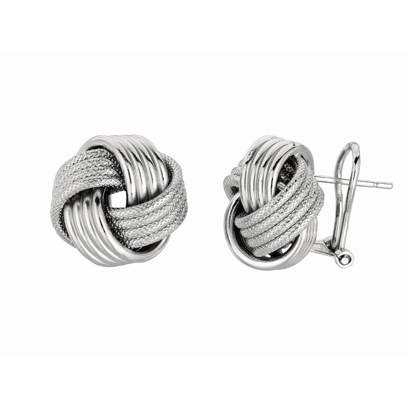 Royal Chain Silver Large Multirow Love Knot Earring