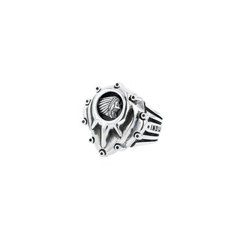 Indian Studed Motor Cover Ring With Headdress Logo
