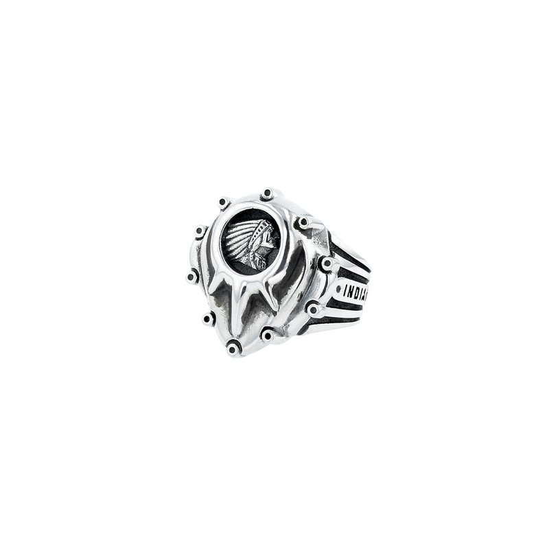 King Baby Indian Studed Motor Cover Ring With Headdress Logo